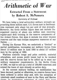 1966 Arithmetic of War
