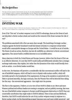 1983 Inviting War