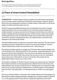 1986 15 Years of Arms Control Demolished