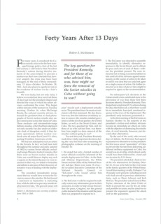 2002 Forty Years After 13 Days