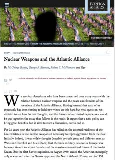 Nuclear Weapons and the Atlantic Alliance